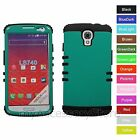 For LG Volt LS740 Turquoise Color Hybrid Rugged Impact Armor Phone Case Cover