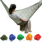 Portable Nylon Hammock Hanging Mesh Sleeping Bed Swing Outdoor Travel Camping
