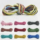 5m Faux Suede 3x1.5mm Jewelry Making Thread String Cord Thong Rope 30 Colors
