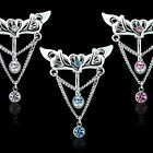 Tribal Top Down Heart Chain Dangle 14G Belly Navel Ring Body Jewelry Wholesale