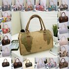 New Trendy Faux Leather Baguette Print Lady's Handbag Shoulder Bag 21 Pattern