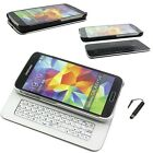 For Samsung Galaxy S5 i9600 Magnetic Sliding Bluetooth Keyboard Case Cover & PEN
