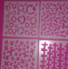 STENCIL SET OF FOUR MARKED SERIES BUY FOUR OR JUST ONE IMAGINE CREATE ENJOY