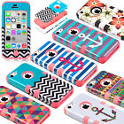 Unique Heavy Duty Shockproof Protective Hard Case Cover For iPhone 5C +Protector