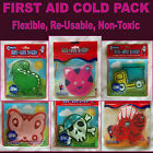 First AID  Gel ICE COLD PACK Kids BOO BOO BUDDY - CHOOSE Princess Dino Cat - NEW