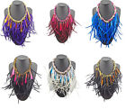 Amazing Ladies Jewellery Chunky Rope Chain Drip Feather Tassels Choker Necklace