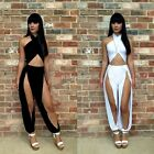 Womens Sexy Cross Hollow Cut Bodycon Bandage Clubwear Outfit Jumpsuit hot K0E1