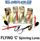 The Best FLYING 'C' Salmon Fishing Lures - ALL SIZES : ALL COLOURS !! SAVE 70%!!
