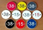 Door Number disc plaques scew or glue on - acrylic discs many colours