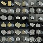 2Sets 42*23mm/40*30mm/24mm/25mm Oval Rectangular Square Cameo Setting Pendant