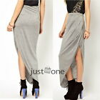 Womens Ladies Girls Spring Summer Automn Irregular Hem Cotton Blend Long Skirt