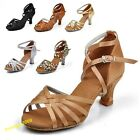 Womens Lady Ballroom Latin Tango Dance Shoes heeled Salsa 6 Color 8 Sizes New