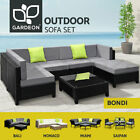 Gardeon Outdoor Furniture Lounge Setting Sofa Wicker 3-7pcs Patio Garden Rattan