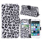 Luxury Leopard Print Fabric Flip Case For All Phones iPhone HTC Samsung Ref CRZY