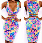 Hot sale!Sexy Bandage Bodycon Dress Evening Party Floral  Beach Sundress USWB