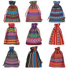 Wholesale 10x14cm Bunt Tribal Tribe Drawstring Jewelry Gift Bags Pouches
