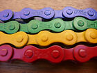 "Single Speed 1/2"" x 1/8"" Bicycle Chain BMX Fixie Bike Red Blue Yellow Green NEW"