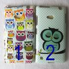 1 x Cute Close Eyes Owl Pattern TPU Back Case for Nokia Lumia N720
