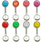 Nurse Clip-on Fob Brooch Pendant Hanging Fobwatch Smiley Face Pocket Watch