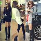 Korea Womens Long Sleeve Winter Thicked Warm Hoodie Jacket Lady Coat Outerwear