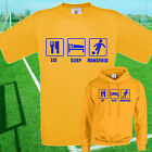 EAT, SLEEP, MANSFIELD FOOTBALL T SHIRT / HOODIE - KIDS ADULTS  TOP