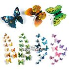 Sticker Art Design Decal Wall Stickers Home Room Decorations 3D Butterfly 12 PCS