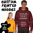 Text Printed Custom Personalised Hoodie - Birthday Xmas Holiday Gift