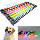 Adjustable Nylon Pet Collar Dog Cat Night Safety LED Flashing Light