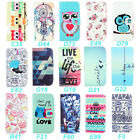 Wallet Various New Design Stand PU Leather Flip Case Cover Skin For Many Phones