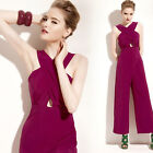 Sexy Ladys Backless Clubwear Sleeveless Bodycon Slim Jumpsuits Casual Long Pants
