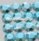 Light Aquamarine (Any Size) hotfix Iron On Faceted rhinestuds 6ss 10ss 16ss 20ss