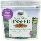 FSC Finest Superfoods Organic Golden Linseed Choice of Size Bags One Supplied