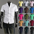 NEW Fashion Males Men's Luxury Black Casual Slim Fit Solid Dress Shirts US LA