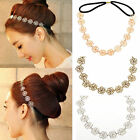 Fashion Womens Cute Metallic Hollow Rose Flower Elastic Hair Band Headband