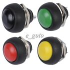 5pcs Black/Red/Green/Yellow 12mm Waterproof Momentary ON/OFF Push button round