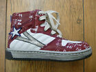 Rondinella Red & Cream Lace Star Graffiti Boot (2842)- Rrp £85 - Free P+p