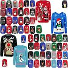 WOMENS KID MENS OLAF FROZEN POMPOM KNITTED CHRISTMAS XMAS JUMPERS SWEATSHIRT TOP