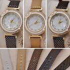 Women's Fashion Shinny Crystal Dial Watches Star Pendant Quartz Dress Wristwatch