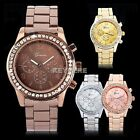 Luxury Sport Unisex Stainless Steel Quartz Analog Wrist Watch Wristwatch K0E1