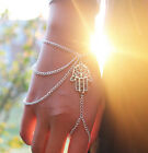new arrived occident style hand of fatima charm jewelry tassels bracelet ring