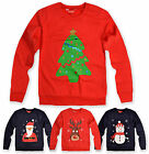 Kids Christmas Jumper Childrens Girls Boys Reindeer Sweater New Age 2 - 6 Years
