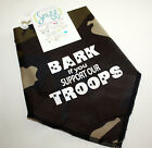 Fun Dog/Pet Bandana-Ties Around Neck - BARK IF YOU SUPPORT OUR TROOPS