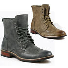 Delli Aldo Mens Faux Suede Lace up Dress Ankle Boot  w/ Leather Lining M-828A