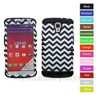 For LG Volt LS740 Chevron Design Hybrid Hard&Rubber Impact Rugged Case Cover