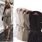 Hoodie Faux Lamb Fur Long Women Vests Sleeveless Jacket Waistcoat Coat 4 Colors