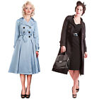 Collectif Dietrich Vintage 40S 50S Style Summer Swing Trech Coat Jacket