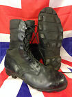 Genuine British Army (American Made) Black Leather Jungle Boots by Wellco Gr 1