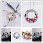 """1XFashion Silver,Gold Chain""""Love will rotate""""Crystal Birthstone Pendant Necklace"""