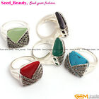 New Square Vintage Tibetan Silver Marcasite18mm Ring US #6-9 ,9 Materials Select