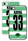 personalised celtic football fan shirt iphone 4 4s iphone 5.5s snap on back case